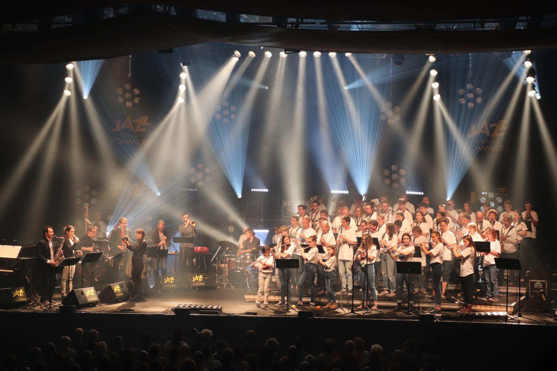 Sur la scène de JAZZ pour 80 jeunes musiciens normands