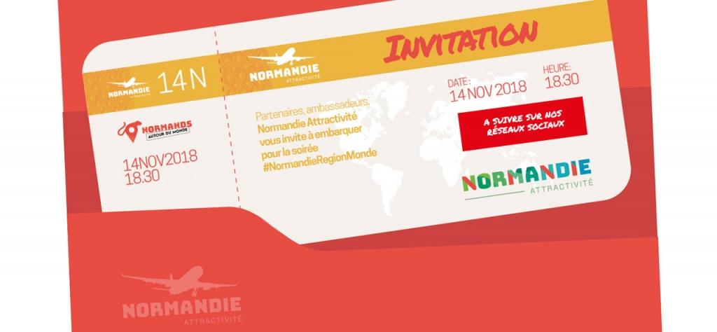 Invitation Normandie Région Monde