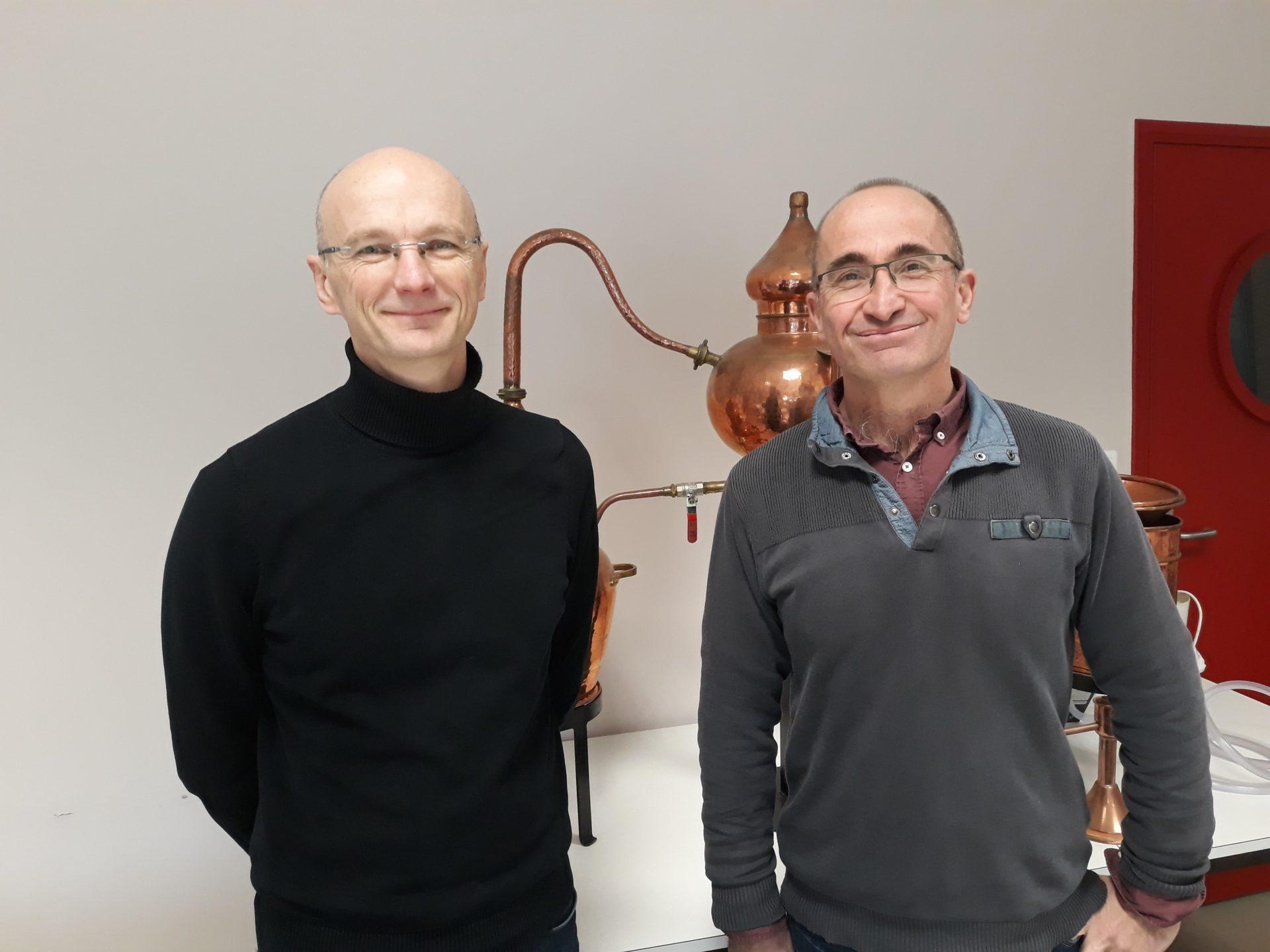 Guillaume Le Bigot, directeur du CFPPA et Frédéric Vieillard, coordinateur du certificat de spécialisation