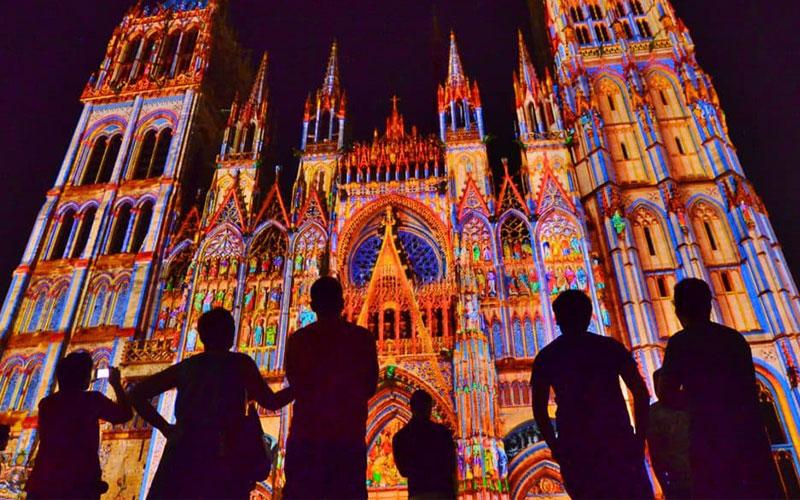 Cathédrale de lumière à Rouen