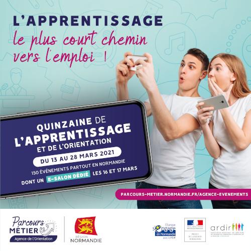 Quinzaine de l'apprentissage : pour se former et s'orienter en Normandie !